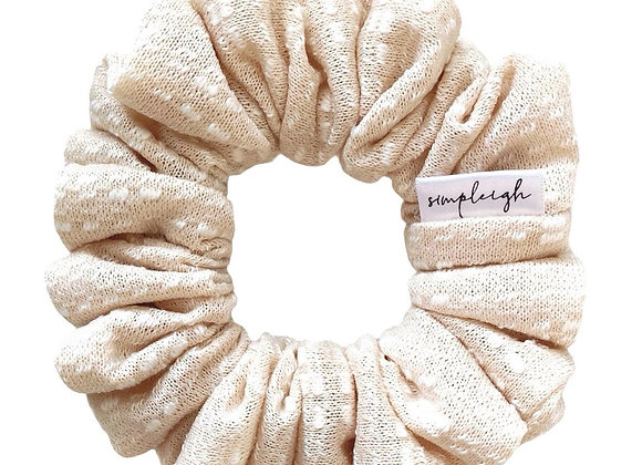 Simpleigh Style - Vanilla Swiss Dot Scrunchie
