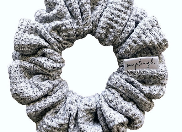 Simpleigh Style - Grey Waffle Weave Scrunchie