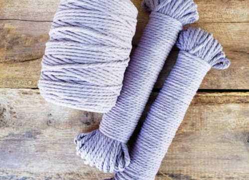 Aster & Vine - Lilac Macrame Rope - 5mm