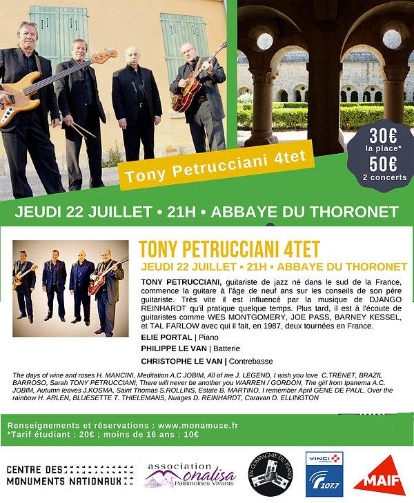 TONY PETRUCCIANI-ELIE PORTAL-CHRISTOPHE LE VAN-PHILIPPE LE VAN-VINCI-MAIF-MONALISA-THORONET-EN COMPAGNIE DU PIANO