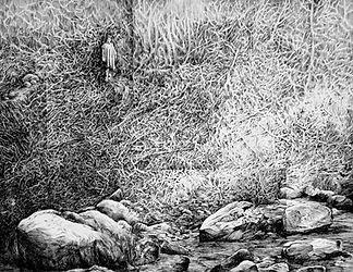 à l'ouest d'Arkham9-encre de chine - 65x