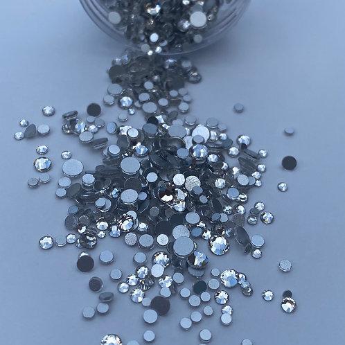 Matte Silver Crystals (1000pcs)