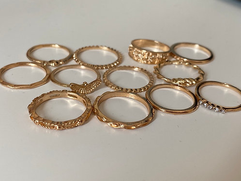 Fashion Knuckle Rings x12 rings