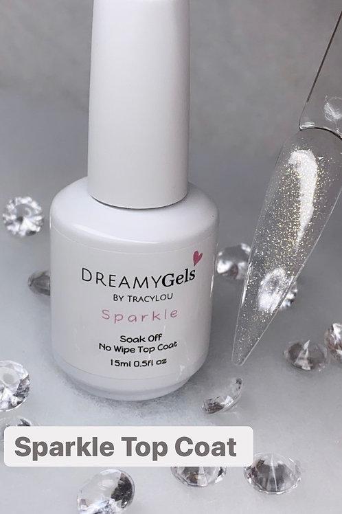 Sparkle No Wipe Top Coat (gold shimmer)