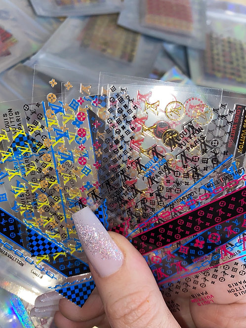 Designer Inspired Nail stickers x10 small sheets