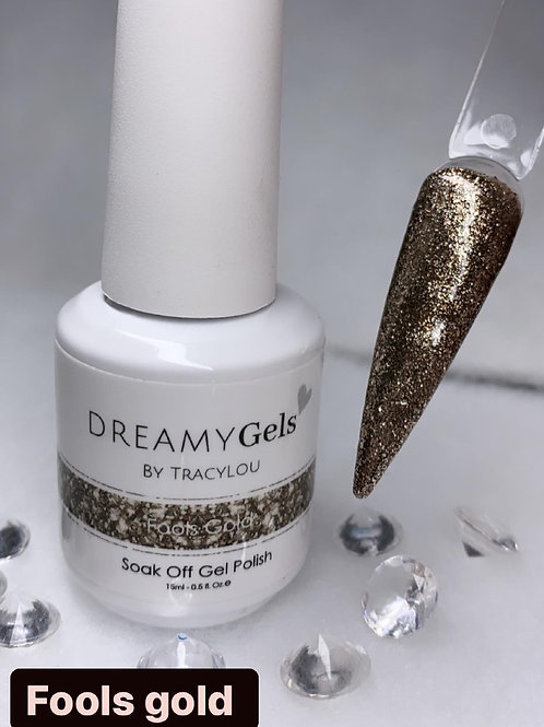 Fools Gold - Glitter Gel Polish 15ml