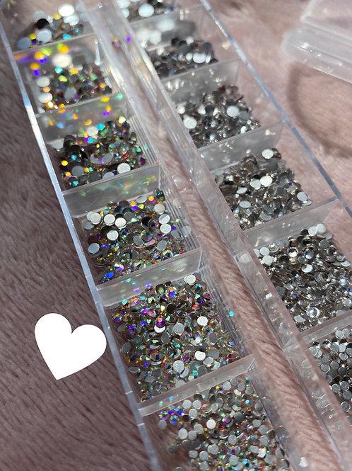 Half Ab / Half Crystal Clear Crystals (1440pcs)