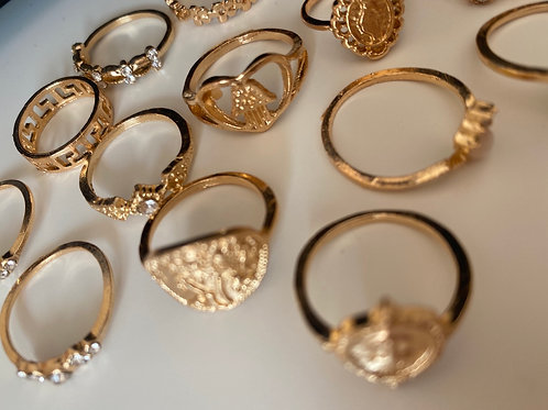 Fashion Ring / knuckle rings  (Gold  style) x15 rings