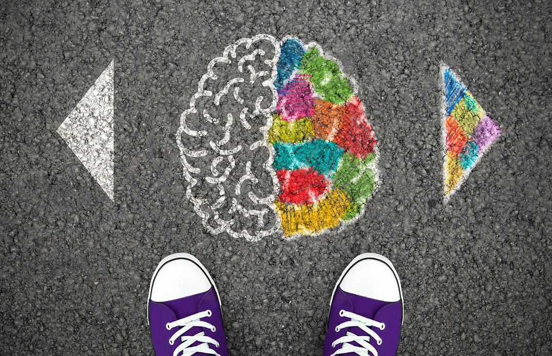 Left Right Human Brain Concept. Creative