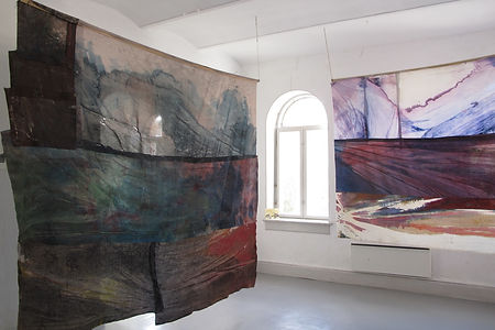 curatorial tongues, exhibition, curating, light, painting, lena mai merle