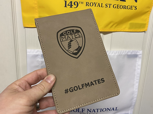 Signed OMP Golfmates // Score Card Holder