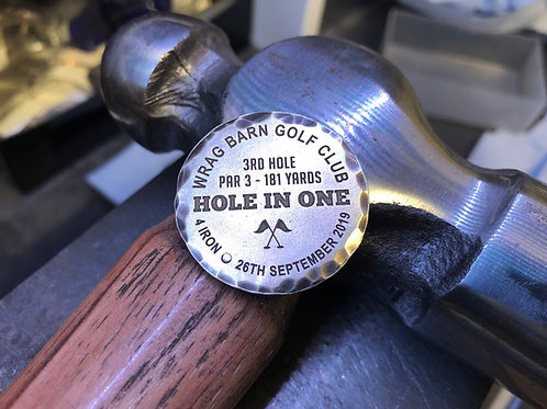 Custom Hole In One Ball Marker // Brass