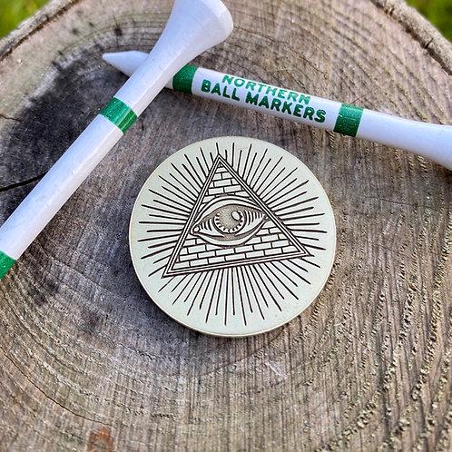 All Seeing Eye Ball Marker // Brass