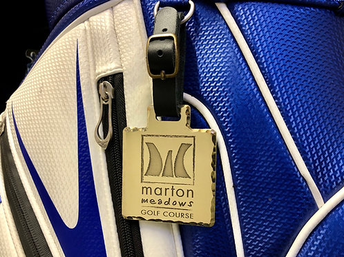 Square Custom Golf Bag Tag // Brass