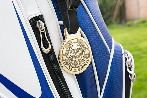 Custom Golf Bag Tag // Brass