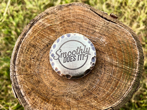 Smoothly Does It! Ball Marker // 32mm Brass