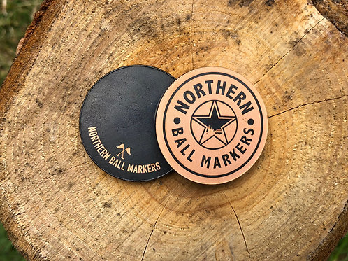 NBM Brown Ale Golf Ball Marker // Blackened Copper 32MM