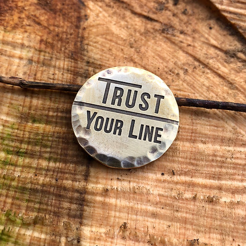 Trust Your Line Ball Marker // 32mm Brass