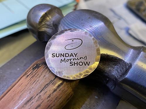 Sunday Morning Show Ball Marker // Brass