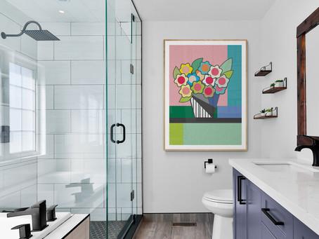 Arte no banheiro, pode?
