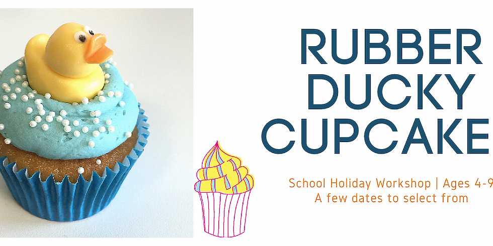 School Holiday Cupcake Workshop - Rubber Ducky