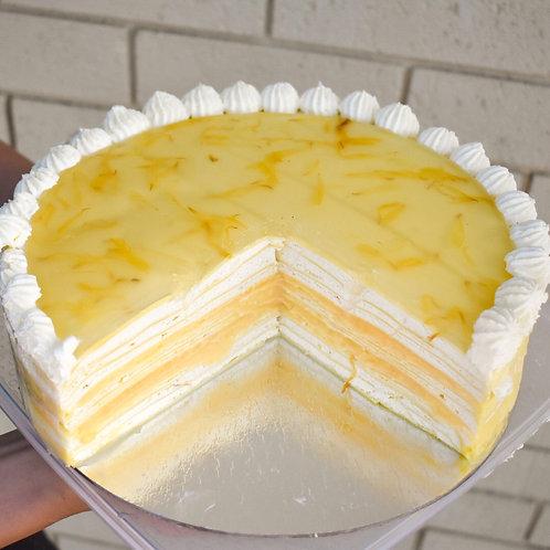 Lemon & coconut mille crepe cake