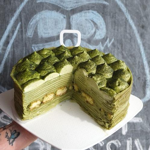 Matchamitsu Crepe Cake