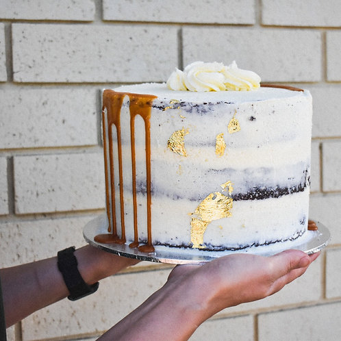 "Mud cake celebration cake 8"" 3 layer"