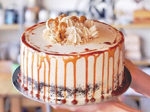 Salted caramel Pretzel Peanut butter Cake