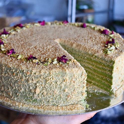 Matcha Honey Cake