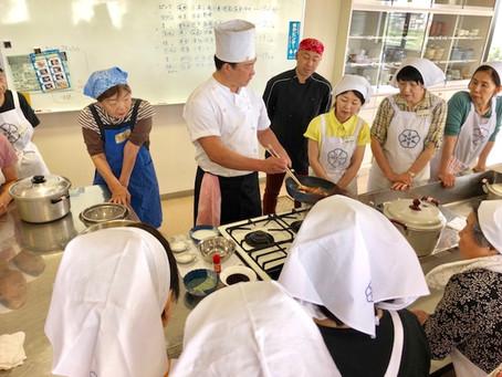 「鶴ヶ島サフランと海鮮入り黄金サフランパスタ」料理教室