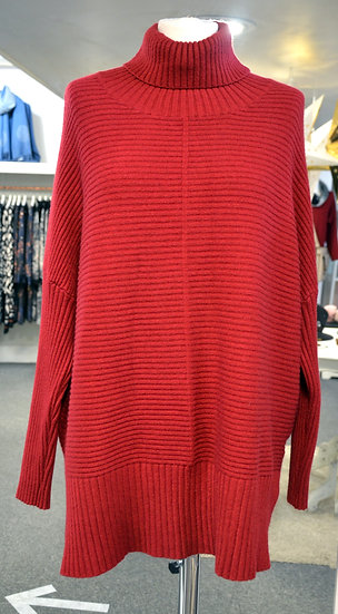 Ribbed Roll Neck Longer Line Jumper - 6 Colours Available