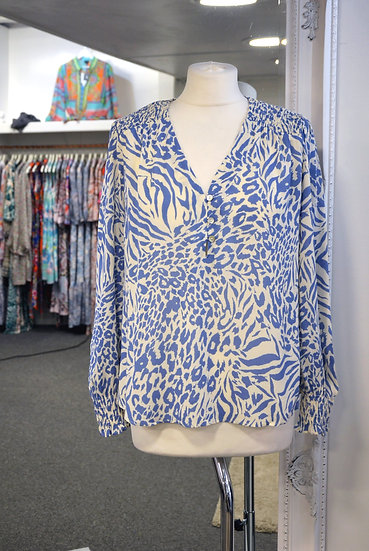 Rails - Brinley - Blue Mixed Animal Blouse