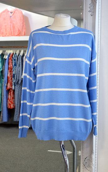 Luella Blue & White Striped Jumper