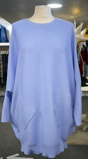 Batwing Sleeve Ribbed Jumper - 3 colours Available
