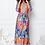 Thumbnail: K-Design Orange/Blue Patterned Midi Dress
