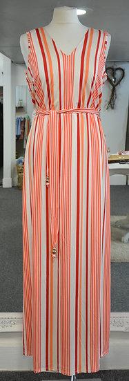 K-Design Orange Sleeveless Maxi Dress