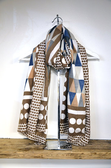 Triangle & Circle Patterned Scarf - 2 Colours Available