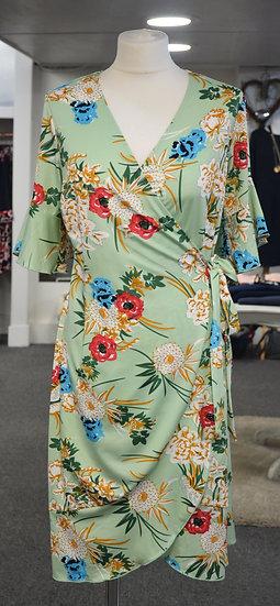 K-Design Green Floral Wrap Dress