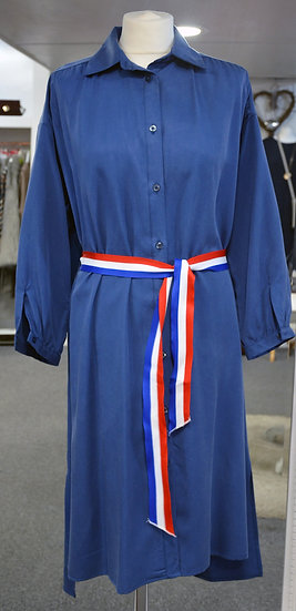 Goa Goa Blue Shirt Dress with Belt