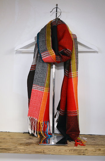 Colourful Check Thin Scarves - 3 Colours Available