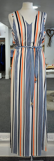 K-Design Blue & Orange Sleeveless Maxi Dress
