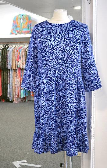 Sugarhill Brighton Blue Poolside Waves Nora Smock Dress