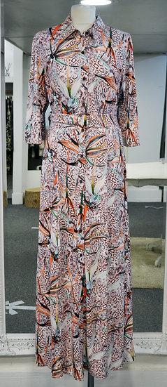 K-Design Snake Skin Print Maxi Dress