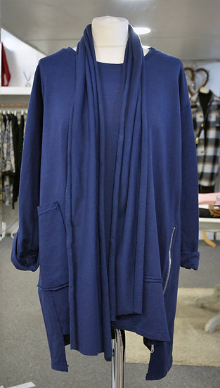 Longline Jumper with Detachable Scarf - 2 Colours Available