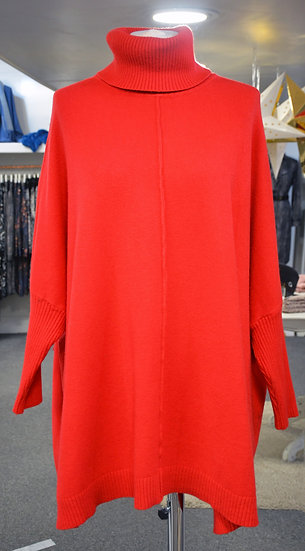 High Neck Bat Wing Swing Jumper - 4 Colours Available