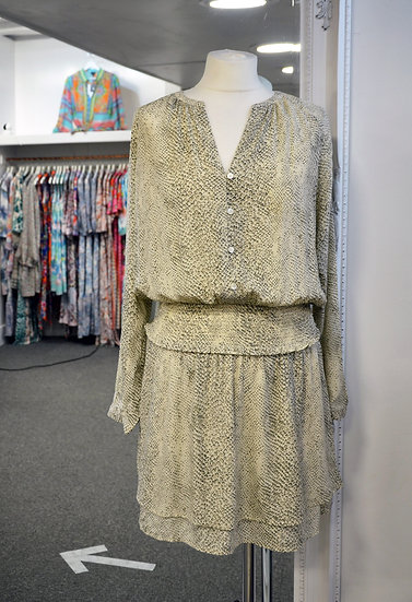 Rails - Jasmine Cream Snakeskin Dress