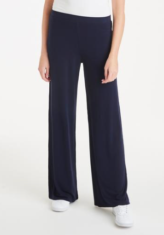 A Postcard From Brighton Pally Palazzo Navy Trousers