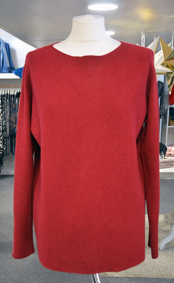 Ribbed Round Neck Jumper with Sparkle Detail- 3 Colours Available