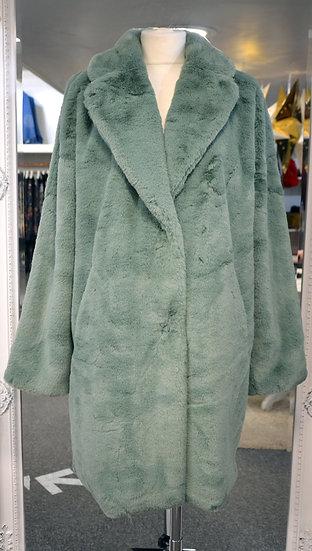 Rino & Pelle Mint Faux Fur Coat